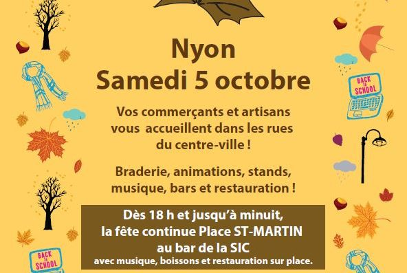 Autumn Market in Nyon – Saturday 5th October