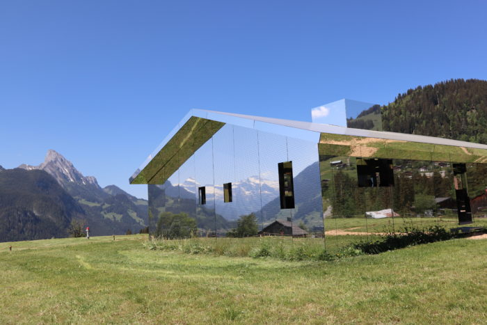 A Train trip from Nyon to see the Mirage – A Mirrored Chalet in the hills above Gstaad