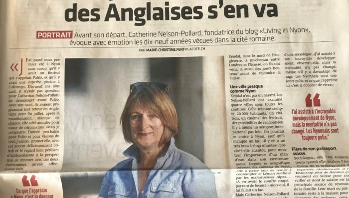 "Last ""Living in Nyon"" column in La Côte published – 25th June 2020"